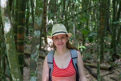Margaret at the Mariposario - Coffee Region, Colombia