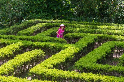 Annalise Playing in the Maze - Mariposario Colombia