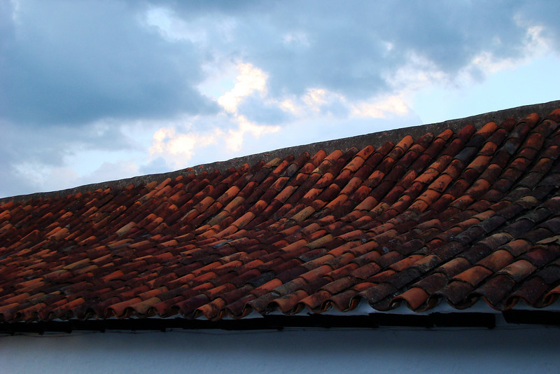 A typical tiled roof.