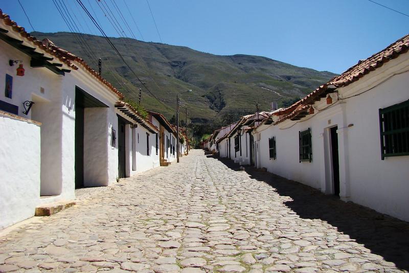 The streets of Villa de Leyva are all Cobblestone.