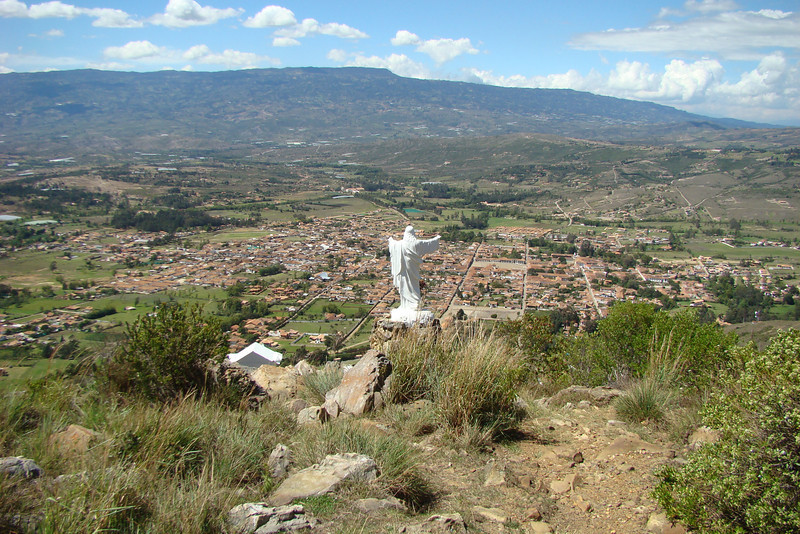 Overlooking the town of Villa de Leyva.