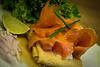 Tremendas crepes con salmón ahumado, crema agria y cebollino (21.200 COP/8,3 EUR/11 USD) - Crepes & Waffles - Aeropuerto Internacional El Dorado - Bogota - Colombia<br /> <br /> Yummy pancakes with smoked salmon and sour cream and chives (21.200 COP/7 GBP/11 USD) - Crepes & Waffles - El Dorado International Airport - Bogota - Colombia<br /> <br /> Lekkere pannenkoeken met gerookte zalm, sour cream en bieslook (21.200 COP/8,3 EUR) - Crepes & Waffles - El Dorado Internationale luchthaven - Bogotá - Colombia<br /> <br /> Succulentes crêpes salées au saumon fumé, crème aigredouce et ciboulette (21.200 COP/8,3 EUR) - Crepes & Waffles - Aeropuerto El Dorado - Bogota - Colombie