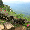 """The """"mirador"""" at the top showed the vista along which we'd walk."""