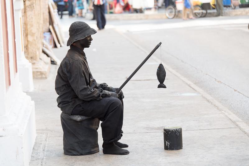 Street performer, Cartagena