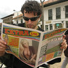 Martin takes us on a driving tour. First stop: Zipaquirá, about an hour north of Bogotá. Scott reads the local paper...