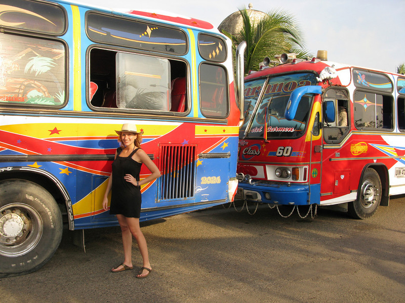 Back in Cartagena with the tricked-out buses
