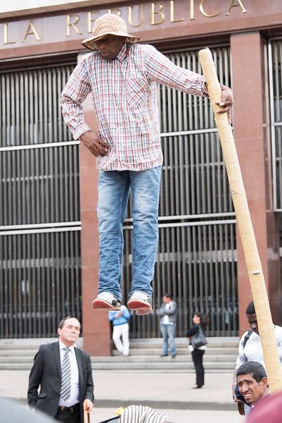Street performer, Bogotá
