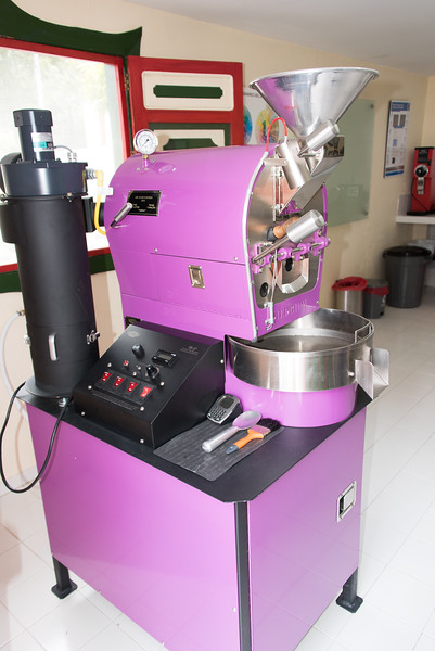 Coffee roasting machine at San Alberto