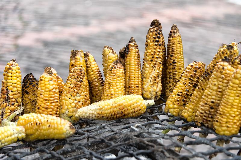 Grilled corn, Bogotá