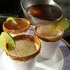 Canelazo is a yummy hot drink of anise-flavored aguardiente and aguapanela (hot sugar water), served in a cup rimmed with cinnamon and lime.
