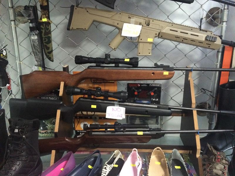 Guns for sale at the Armenia airport gift shop. Really.