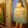 Inside the Museo Botero, paying homage to Colombia's most famous artist, Fernando Botero--he of the round, plump women (and men, horses, man-children). The museum also featured the work of many other international artists, including Dali, Picasso, Monet, Miro, and Tamayo.
