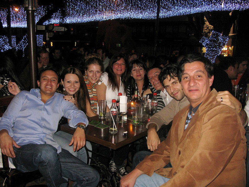 Our nighttime crew, in Zona Rose, Bogotá's nightlife district. We were joined by two friends of Martin's and two friends of a college friend of mine.