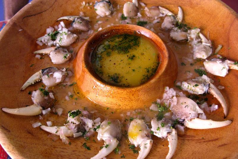 crab-claw ceviche