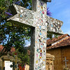 a gorgeous mosaic cross