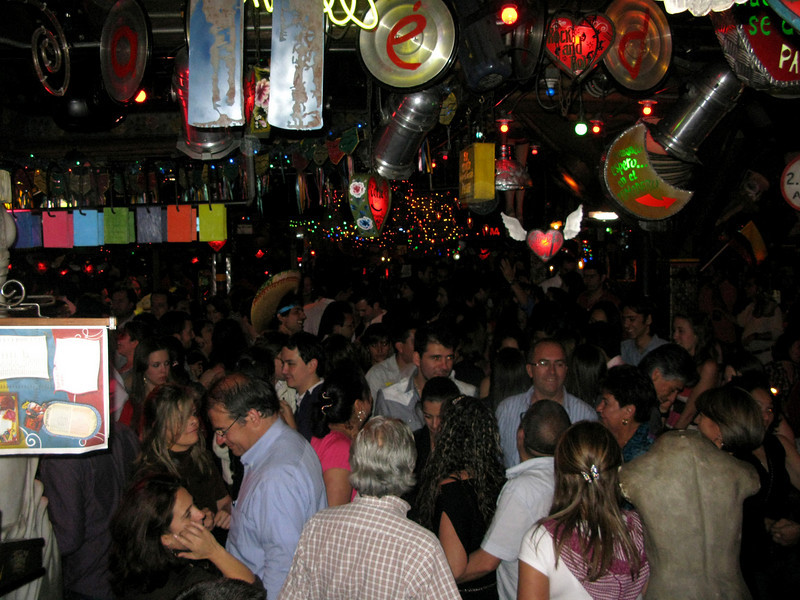 """The dance floor was constantly packed. Mostly Colombian/Spanish music, though that included """"Macarena."""""""