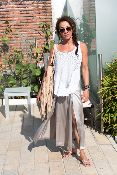 Roya at our hotel in Cartagena
