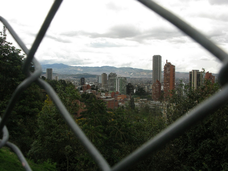 En route to Bogotá's old town, La Candelaria, in Martin's car