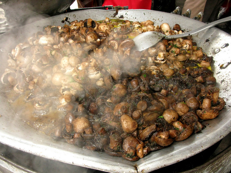 Delicious sauteed mushrooms