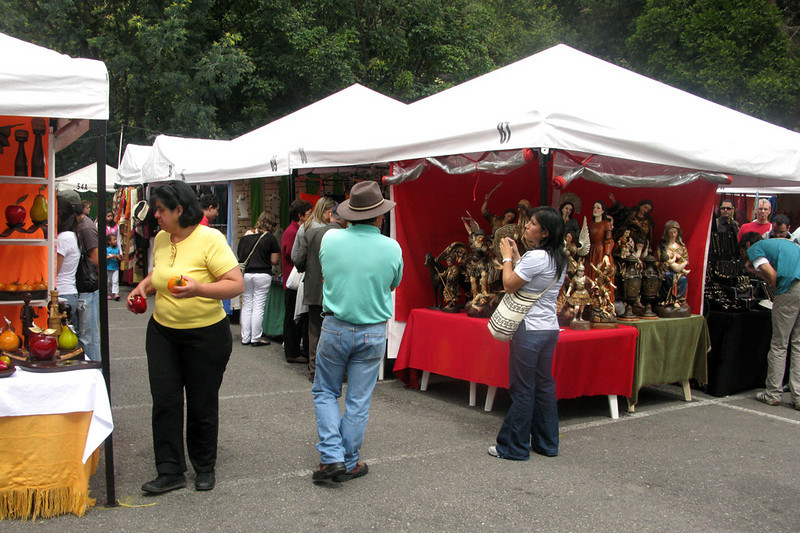 Flea markets and shopping malls are very popular in Colombia; this Sunday market in the cute 'hood of Usaquen is a good one.