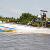 Speedboat returning to Cartagena from Hotel Isla del Encanto via the Rio Negro