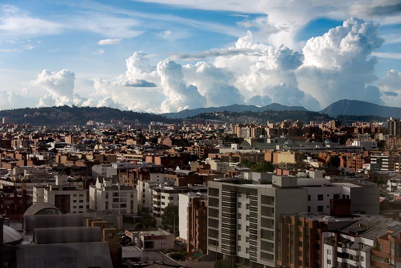 Evening storms over Bogotá