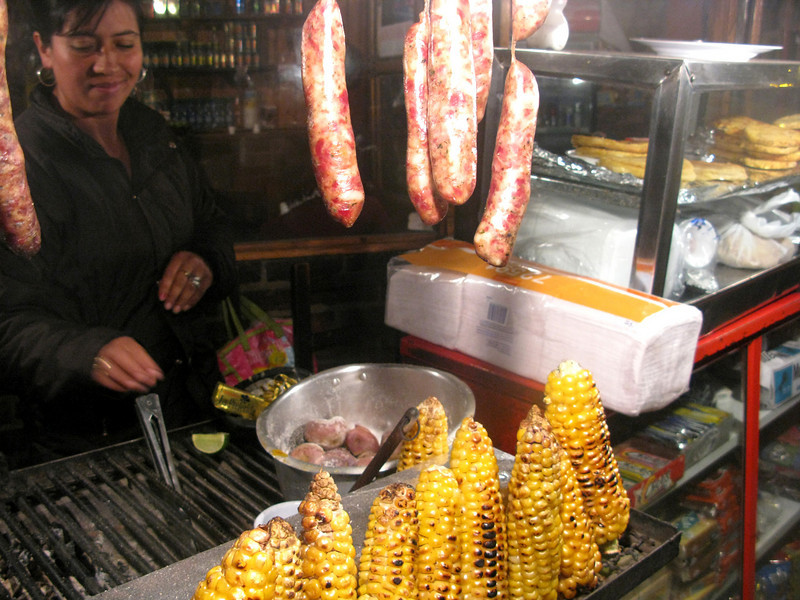 Of course, chorizo, corn, and arepas were also available here.