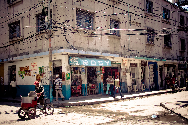 Downtown Santa Marta Colombia streets