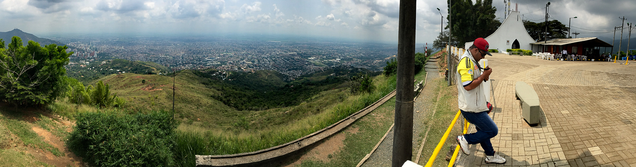 Cali panorama from Cerro de los Cristales (Hill of the Crystals)