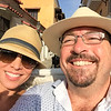 Roya and Joe in a horse carriage in Cartagena