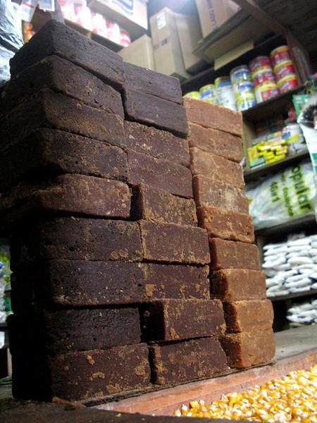 Blocks of panela, an unrefined brown sugar