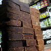 Blocks of panela, an unrefined brown sugar