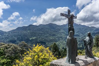 Twelfth station of the cross.  Jesus dies on the cross.