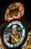 A detail of stained glass showing the Brazilian emperor Dom Pedro II in the historic Fiscal Island castle, completed in 1889 in the Guanabara bay of Rio de Janeiro.(Australfoto/Douglas Engle)