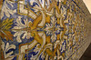 Details of tile from the interior of the Sao Francisco Church (1590) in Joao Pessoa, Paraiba state.(Australfoto/Douglas Engle)