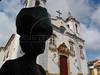 A woman walks past the Nossa Senhora do Rosario church in Sao Joao del Rei in the Brazilian state of Minas Gerais. (Australfoto/Douglas Engle)