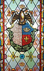 A detail of stained glass of the historic Fiscal Island castle, completed in 1889 in the Guanabara bay of Rio de Janeiro.(Australfoto/Douglas Engle)