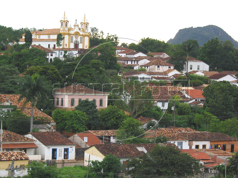 """A view of Tiradentes, in the Brazilian state of Minas Gerais. The town which sits in a green valley, is named after the man known as """"Tiradentes"""" (tooth puller), Joaquim Jose da Silva Xavier, martyred heroe of the Minas revolution. (Australfoto/Douglas Engle)"""