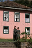 """Workers in period dress welcome visitors to the main house of the Fazenda Uniao, near Rio das Flores, about 160km (100 miles) from Rio de Janeiro, August 13, 2005. The Fazenda, which is now a religious retreat, is of many former coffee plantations of the region of western Rio de Janeiro state which has been turned into a bed and breakfast. Capitalizing on the beautiful landscapes and historical architecture, entrepreneurs have been buying up the decaying plantations, most of which flourished in the latter half of the 19th century, and turning them into a tourist attractions. The plantations, which no longer produce significant amounts of coffee, now form what is called the """"Coffee Circuit,"""" which promotes historical, social and culinary tours of the area. Coffee dominated Brazilian exports in the last half of the nineteenth century and as coffee exports rose steadily, so did the numbers of imported slaves to work the plantations, a fact which has left a cultural imprint on Brazilian society today. In 1822 about 30 percent, or 1 million, of Brazil's population were African-born or descended slaves. In 1888, Brazil was one of the last countries in the world to abolish slavery. Today, about 44 percent of the population can claim African ancestors.(Australfoto/Douglas Engle)"""