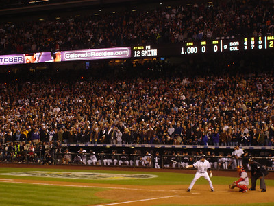 The last out of the 2007 World Series.