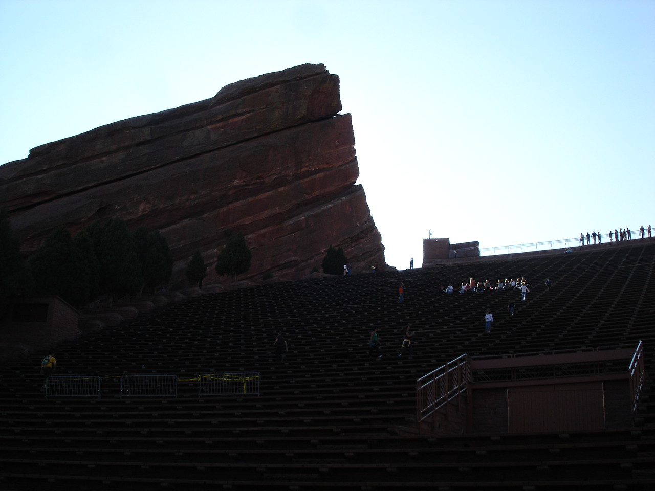 View from the stage to the left.