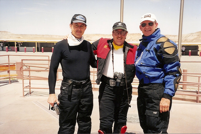 2001 - Tom, Neal, Glenn at Four Corners. This is the intersection of Colorado, Utah, New Mexico, and Arizona.