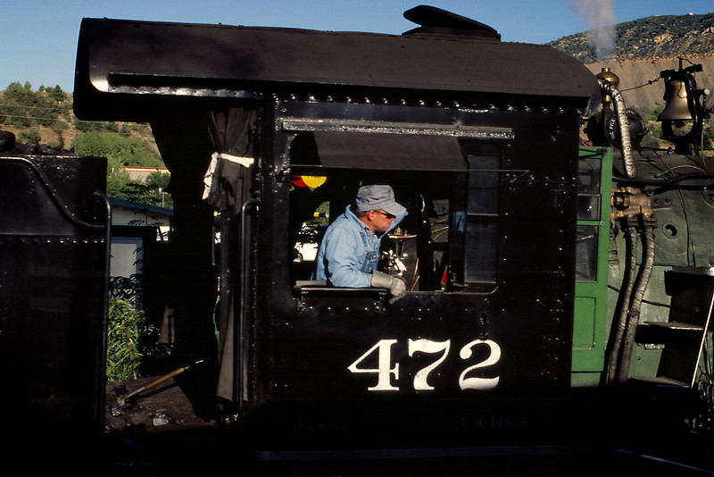 Engineer; Durango & Silverton Narrow Guage RR, Durango, CO