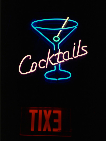 Cocktails. Neon sign, Durango Colorado.