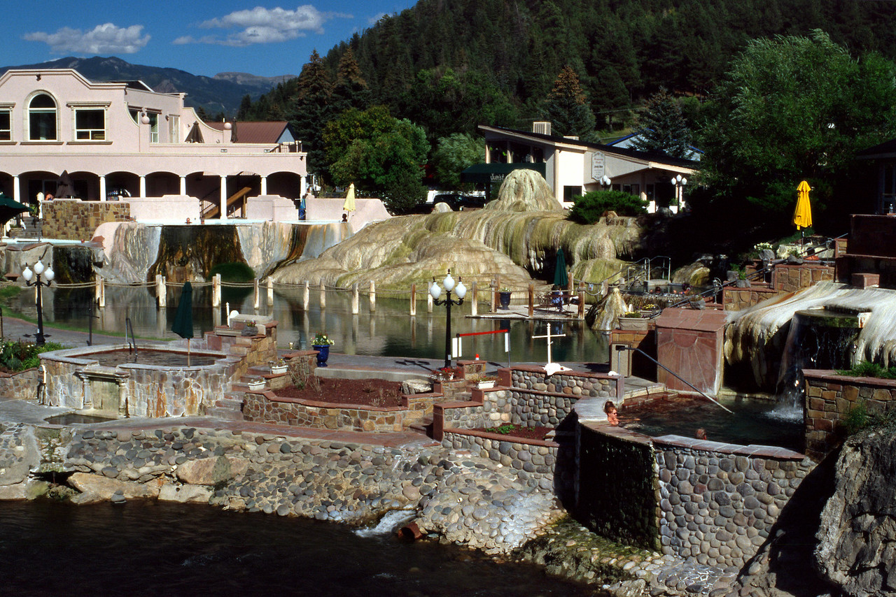 The Springs Spa on the San Juan River. Pagosa Springs, Colorado.