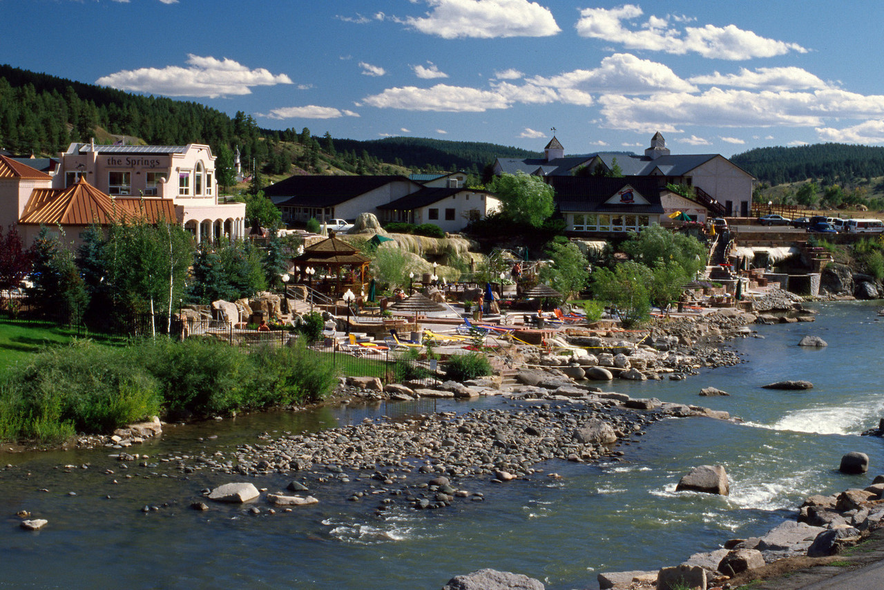 The Springs Spa on the San Juan River. Pagosa Springs, Colorado