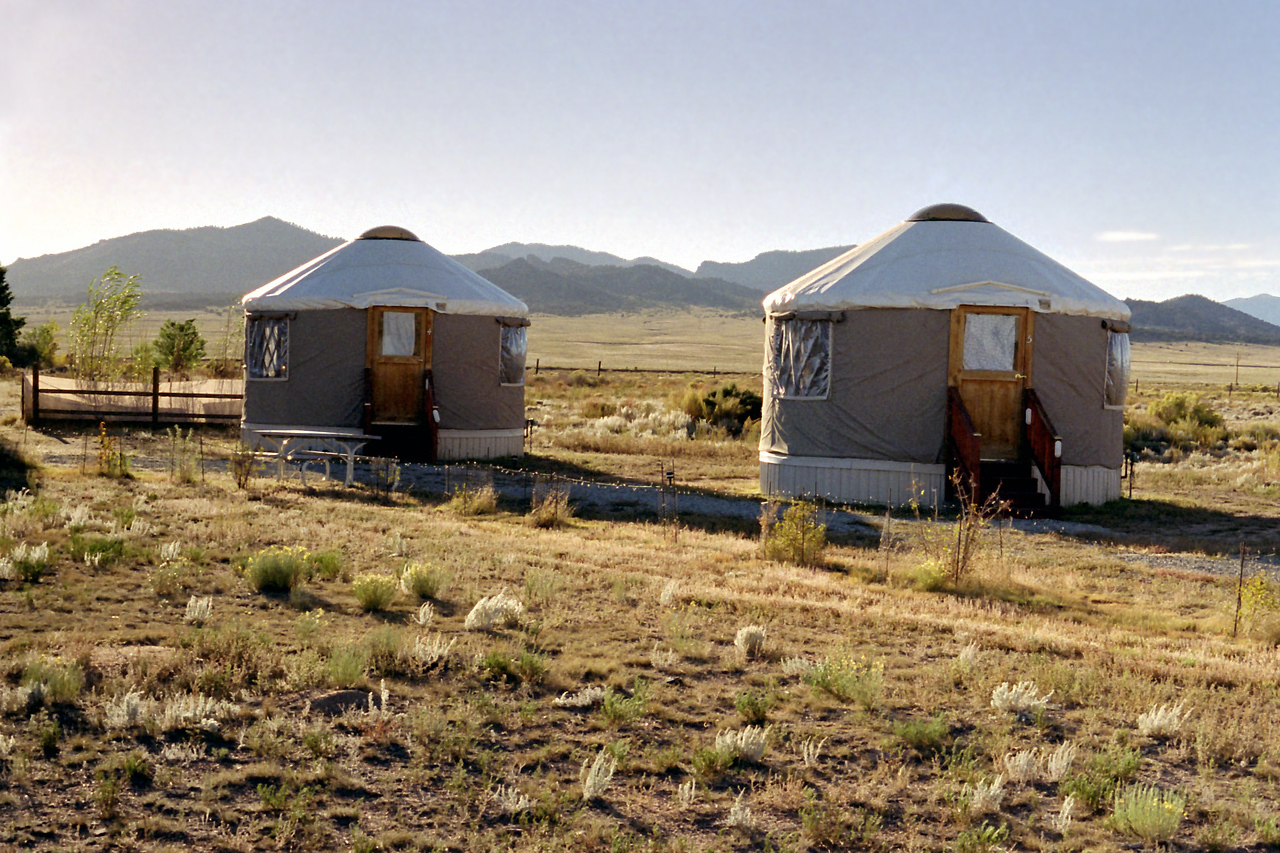 Yurts. Joyful Journey Spa NE of Sagauche, Colorado.