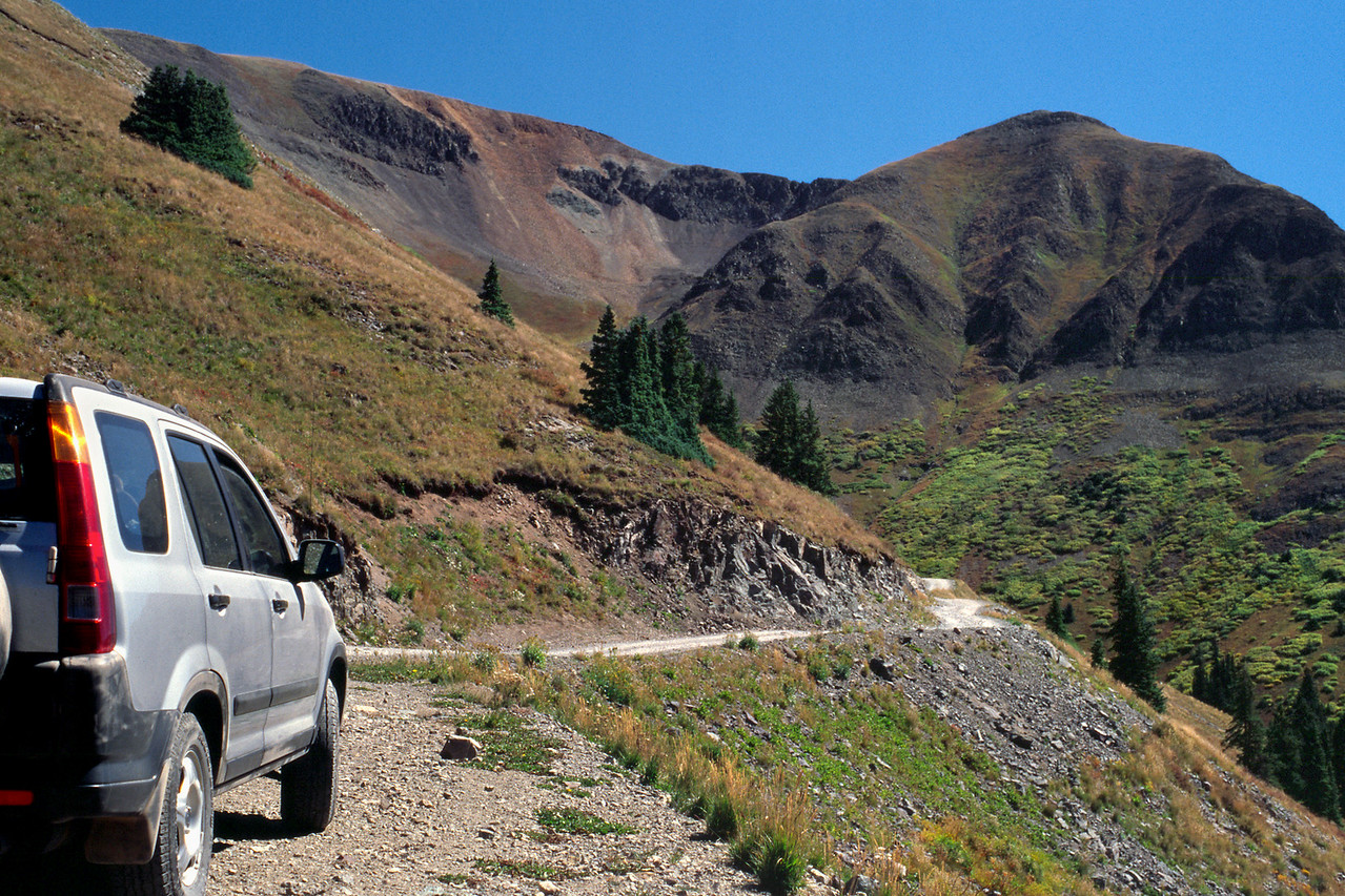 Alpine Loop Jeep trail NE of Silverton, Colorado.