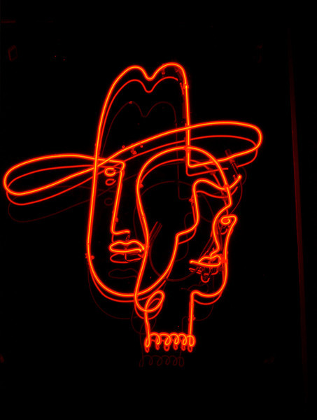 Cowboygirl. Neon sign, Durango Colorado.