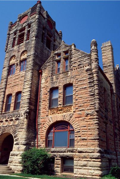Ireland Hall, former High School in Arkansas City, Kansas-Sept. 2005